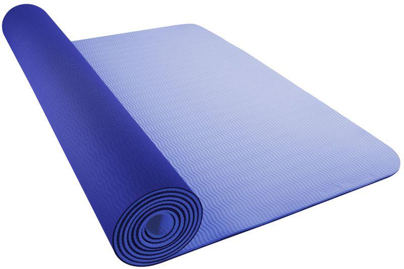 Коврик для йоги Nike Yoga Mat 5mm, цвет: синий, голубойMCI54145_WhiteКоврик для йоги Nike- это современный, удобный и компактный аксессуар для занятий фитнесом и йогой в группах или домашних условиях. Нескользящая поверхность обеспечивает комфорт при выполнении упражнений. В процессе занятий коврик не растягивается и не теряет формы. Мягкая, бархатистая на ощупь поверхность коврика создает ощущение дополнительного комфорта и предотвращает скольжение рук и ног во время занятий. Прочный и упругий материал не растягивается, легко моется. Коврик компактный, хранится в свернутом виде. Шнурок для переноски обеспечивает комфортную транспортировку.