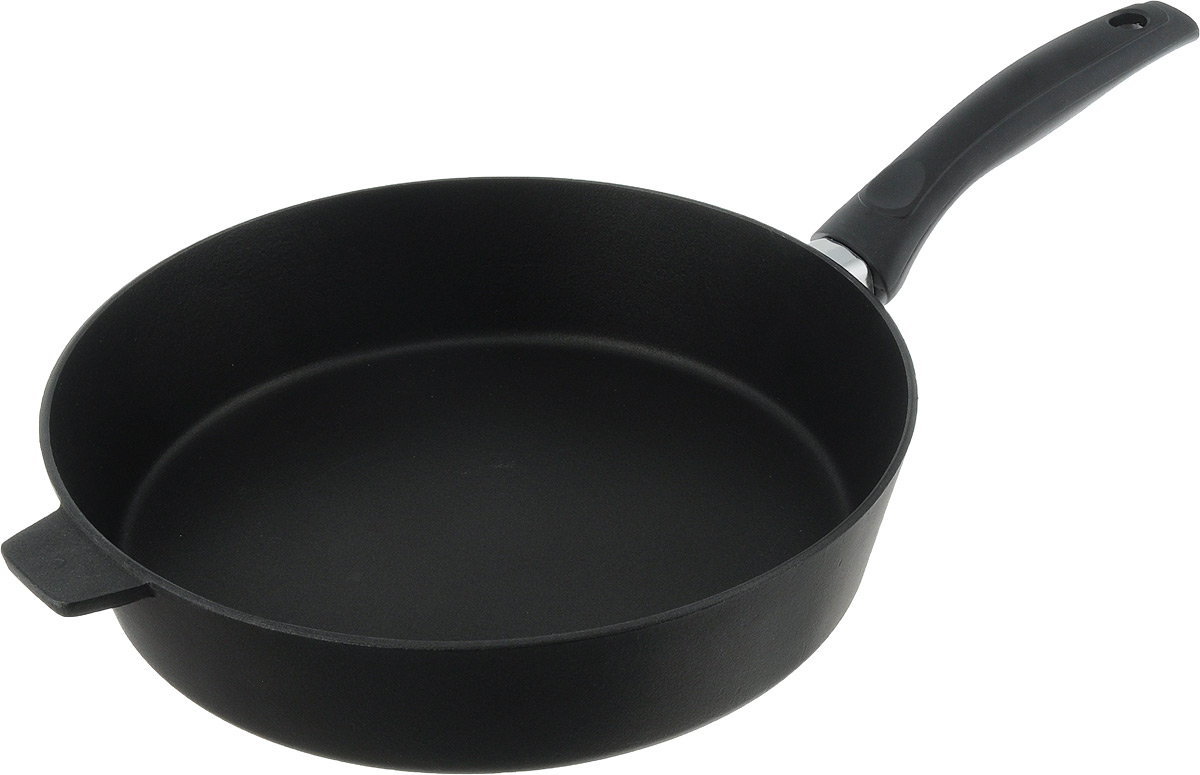 Сковорода Алита Хозяюшка, с антипригарным покрытием. Диаметр 28 смFS-91909Сковорода Алита Хозяюшка изготовлена из литого алюминия с двухсторонним антипригарным покрытием. Благодаря такому покрытию, пища не пригорает и не прилипает к стенкам, готовить можно с минимальным количеством масла и жиров. Гладкая поверхность обеспечивает легкость ухода за посудой.Сковорода оснащена удобной ручкой. Подходит для использования на всех типах плит, кроме индукционных.Диаметр сковороды (по верхнему краю): 28 см.Высота стенки: 6,5 см.Длина ручки: 18,5 см.