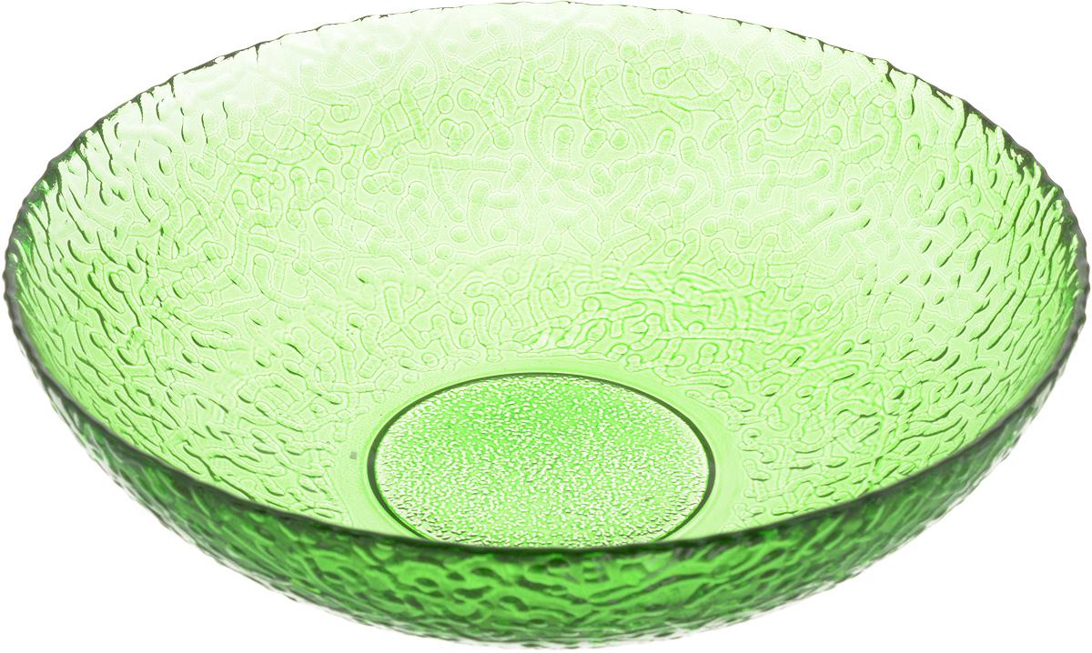 Тарелка NiNaGlass Ажур, цвет: зеленый, диаметр 20 см115510Тарелка NiNaGlass Ажур выполнена из высококачественного стекла и имеет рельефную внешнюю поверхность. Она прекрасно впишется в интерьер вашей кухни и станет достойным дополнением к кухонному инвентарю. Тарелка NiNaGlass Ажур подчеркнет прекрасный вкус хозяйки и станет отличным подарком.Диаметр тарелки: 20 см.Высота: 5 см.