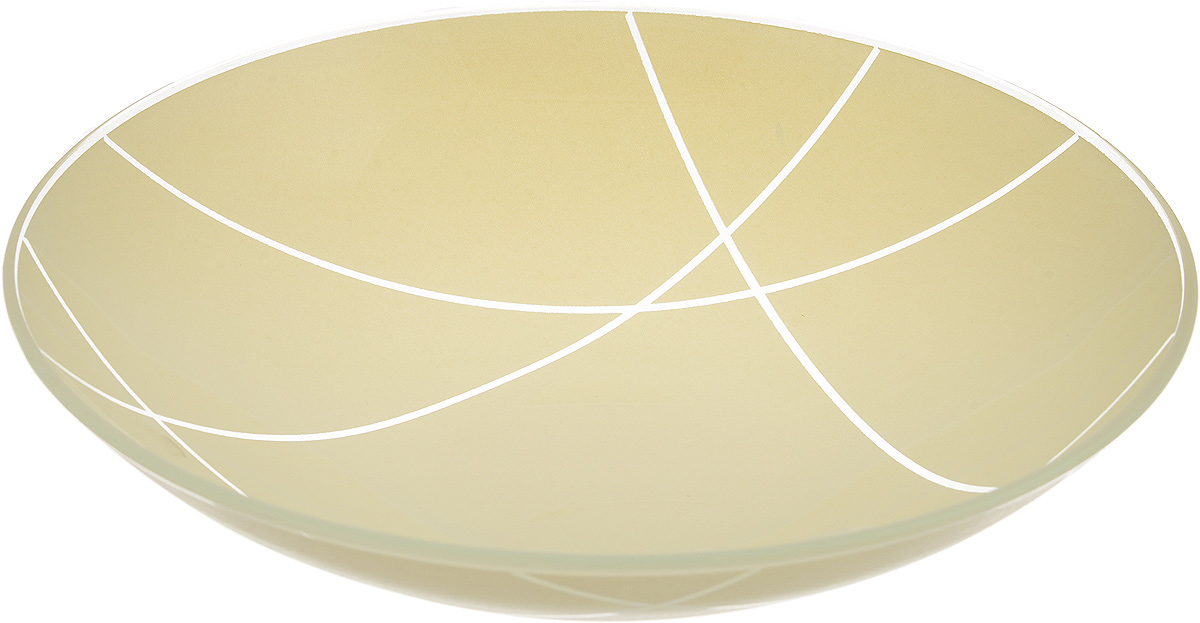 Тарелка глубокая NiNaGlass Контур, цвет: светло-бежевый, диаметр 22 смFS-91909Тарелка NiNaGlass Контур выполнена из высококачественного стекла. Она прекрасно впишется в интерьер вашей кухни и станет достойным дополнениемк кухонному инвентарю. Тарелка NiNaGlass Контур подчеркнет прекрасный вкус хозяйки и станет отличным подарком.Диаметр тарелки: 22 см.Высота: 5 см.