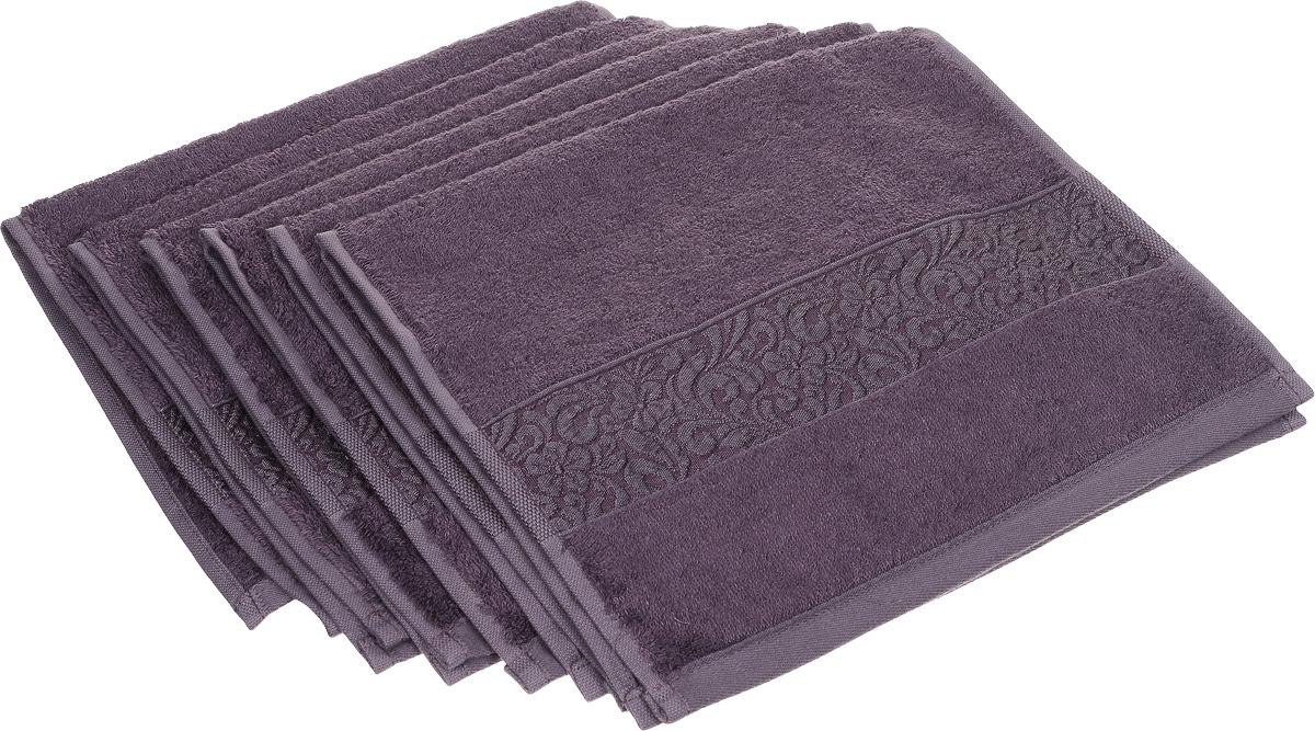 Набор полотенец Issimo Home Valencia, цвет: пурпурный, 30 х 50 см, 6 шт68/5/3Набор Issimo Home Valencia состоит из 6 полотенец, выполненных из 60% бамбукового волокна и 40% хлопка. Такими полотенцами не нужно вытираться - только коснитесь кожи - и ткань сама все впитает. Такая ткань впитывает в 3 раза лучше, чем хлопок.Набор из маленьких полотенец-салфеток очень практичен - он станет незаменимым в дороге и в путешествиях. Кроме того, это хороший, красивый и изысканный подарок. Несмотря на богатую плотность и высокую петлю полотенец, онибыстро сохнут, остаются легкими даже при намокании.