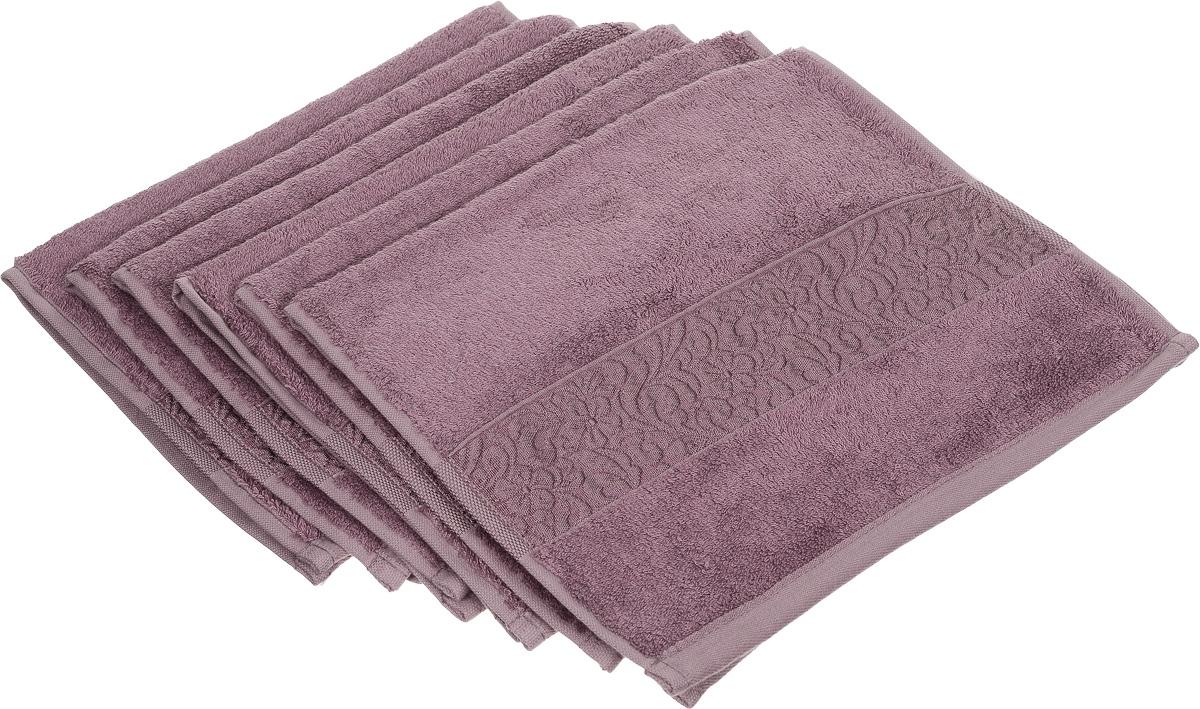Набор полотенец Issimo Home Valencia, цвет: розово-лиловый, 30 х 50 см, 6 шт68/5/1Набор Issimo Home Valencia состоит из 6 полотенец, выполненных из 60% бамбукового волокна и 40% хлопка. Такими полотенцами не нужно вытираться - только коснитесь кожи - и ткань сама все впитает. Такая ткань впитывает в 3 раза лучше, чем хлопок.Набор из маленьких полотенец-салфеток очень практичен - он станет незаменимым в дороге и в путешествиях. Кроме того, это хороший, красивый и изысканный подарок. Несмотря на богатую плотность и высокую петлю полотенец, онибыстро сохнут, остаются легкими даже при намокании.