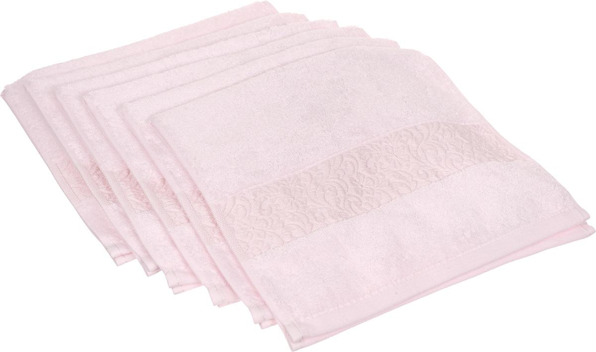 Набор полотенец Issimo Home Valencia, цвет: светло-розовый, 30 х 50 см, 6 штBH-UN0502( R)Набор Issimo Home Valencia состоит из 6 полотенец, выполненных из 60% бамбукового волокна и 40% хлопка. Такими полотенцами не нужно вытираться - только коснитесь кожи - и ткань сама все впитает. Такая ткань впитывает в 3 раза лучше, чем хлопок.Набор из маленьких полотенец-салфеток очень практичен - он станет незаменимым в дороге и в путешествиях. Кроме того, это хороший, красивый и изысканный подарок. Несмотря на богатую плотность и высокую петлю полотенец, онибыстро сохнут, остаются легкими даже при намокании.