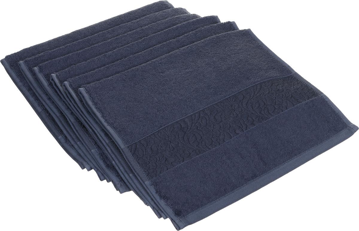 Набор полотенец Issimo Home Valencia, цвет: темно-синий, 30 х 50 см, 6 шт68/5/1Набор Issimo Home Valencia состоит из 6 полотенец, выполненных из 60% бамбукового волокна и 40% хлопка. Такими полотенцами не нужно вытираться - только коснитесь кожи - и ткань сама все впитает. Такая ткань впитывает в 3 раза лучше, чем хлопок.Набор из маленьких полотенец-салфеток очень практичен - он станет незаменимым в дороге и в путешествиях. Кроме того, это хороший, красивый и изысканный подарок. Несмотря на богатую плотность и высокую петлю полотенец, онибыстро сохнут, остаются легкими даже при намокании.