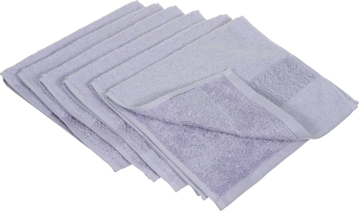Набор полотенец Issimo Home Valencia, цвет: светло-лавандовый, 30 х 50 см, 6 шт391602Набор Issimo Home Valencia состоит из 6 полотенец, выполненных из 60% бамбукового волокна и 40% хлопка. Такими полотенцами не нужно вытираться - только коснитесь кожи - и ткань сама все впитает. Такая ткань впитывает в 3 раза лучше, чем хлопок.Набор из маленьких полотенец-салфеток очень практичен - он станет незаменимым в дороге и в путешествиях. Кроме того, это хороший, красивый и изысканный подарок. Несмотря на богатую плотность и высокую петлю полотенец, онибыстро сохнут, остаются легкими даже при намокании.