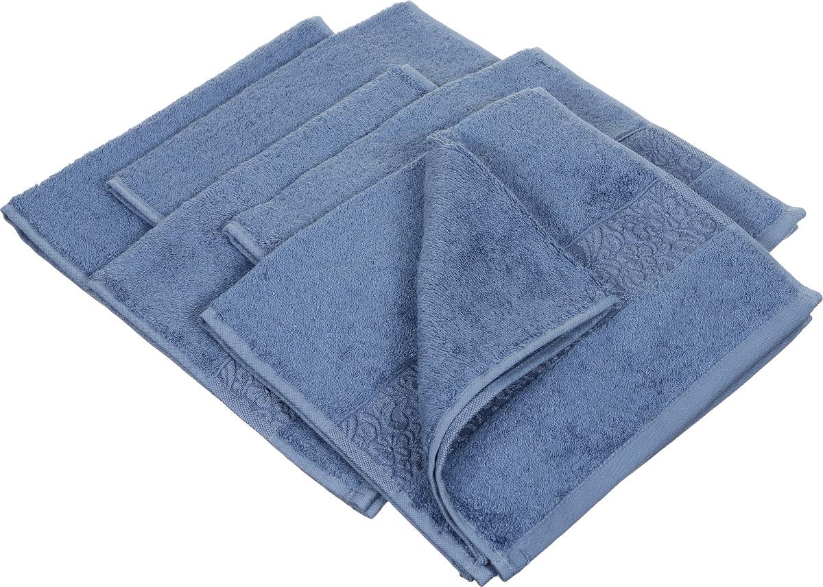 Набор полотенец Issimo Home Valencia, цвет: индиго, 30 х 50 см, 6 шт19201Набор Issimo Home Valencia состоит из 6 полотенец, выполненных из 60% бамбукового волокна и 40% хлопка. Такими полотенцами не нужно вытираться - только коснитесь кожи - и ткань сама все впитает. Такая ткань впитывает в 3 раза лучше, чем хлопок.Набор из маленьких полотенец-салфеток очень практичен - он станет незаменимым в дороге и в путешествиях. Кроме того, это хороший, красивый и изысканный подарок. Несмотря на богатую плотность и высокую петлю полотенец, онибыстро сохнут, остаются легкими даже при намокании.