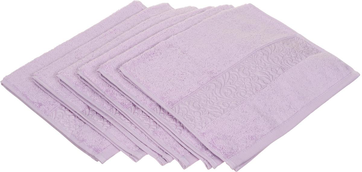 Набор полотенец Issimo Home Valencia, цвет: светло-сиреневый, 30 х 50 см, 6 штLISBOA 11399/5C CHROME, OAKНабор Issimo Home Valencia состоит из 6 полотенец, выполненных из 60% бамбукового волокна и 40% хлопка. Такими полотенцами не нужно вытираться - только коснитесь кожи - и ткань сама все впитает. Такая ткань впитывает в 3 раза лучше, чем хлопок.Набор из маленьких полотенец-салфеток очень практичен - он станет незаменимым в дороге и в путешествиях. Кроме того, это хороший, красивый и изысканный подарок. Несмотря на богатую плотность и высокую петлю полотенец, онибыстро сохнут, остаются легкими даже при намокании.
