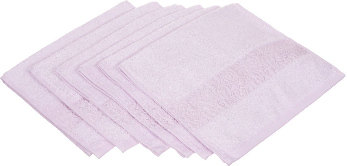 Набор полотенец Issimo Home Valencia, цвет: лиловый, 30 х 50 см, 6 шт20736Набор Issimo Home Valencia состоит из 6 полотенец, выполненных из 60% бамбукового волокна и 40% хлопка. Такими полотенцами не нужно вытираться - только коснитесь кожи - и ткань сама все впитает. Такая ткань впитывает в 3 раза лучше, чем хлопок.Набор из маленьких полотенец-салфеток очень практичен - он станет незаменимым в дороге и в путешествиях. Кроме того, это хороший, красивый и изысканный подарок. Несмотря на богатую плотность и высокую петлю полотенец, онибыстро сохнут, остаются легкими даже при намокании.