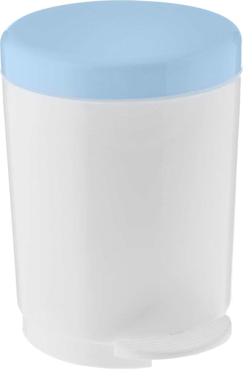 Ведро для мусора Plastic Centre, с педалью, цвет: серо-голубой, белый, 6 л071-411-5228Ведро для мусора Plastic Centre изготовлено из прочного полипропилена. Ведро оснащено закрывающейся крышкой, которая открывается с помощью нижней педали. Надавив на педаль, вы положите мусор, не снимая крышку полностью. Ведро-вкладыш легко достается и моется. Такая модель прекрасно подойдет для различных хозяйственных нужд: для уборки или хранения мусора.Диаметр ведра (по верхнему краю): 20 см. Высота (без учета крышки): 24,5 см.Высота (с учетом крышки): 27,5 см.