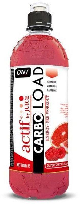 Энергеический напиток QNT Карбо Лоад, суперфрукты, 700 млQNT1149Carbo Load предназначен для употребления до и во время тренировки, и содержит углеводы и натуральные фруктовые соки. Для повышения физической производительности во время интенсивных тренировок в состав Carbo Load входит кофеин, экстракт гуараны и экстракт женьшеня.Состав: вода, сахарный сироп, регуляторы Е330/Е331, консерванты Е202/Е211, концентрат сока малина и грейпфрута, кофеин, экстракт гуараны, экстракт женьшеня, подсалстителя Е955, цветовые красители Е122/Е133
