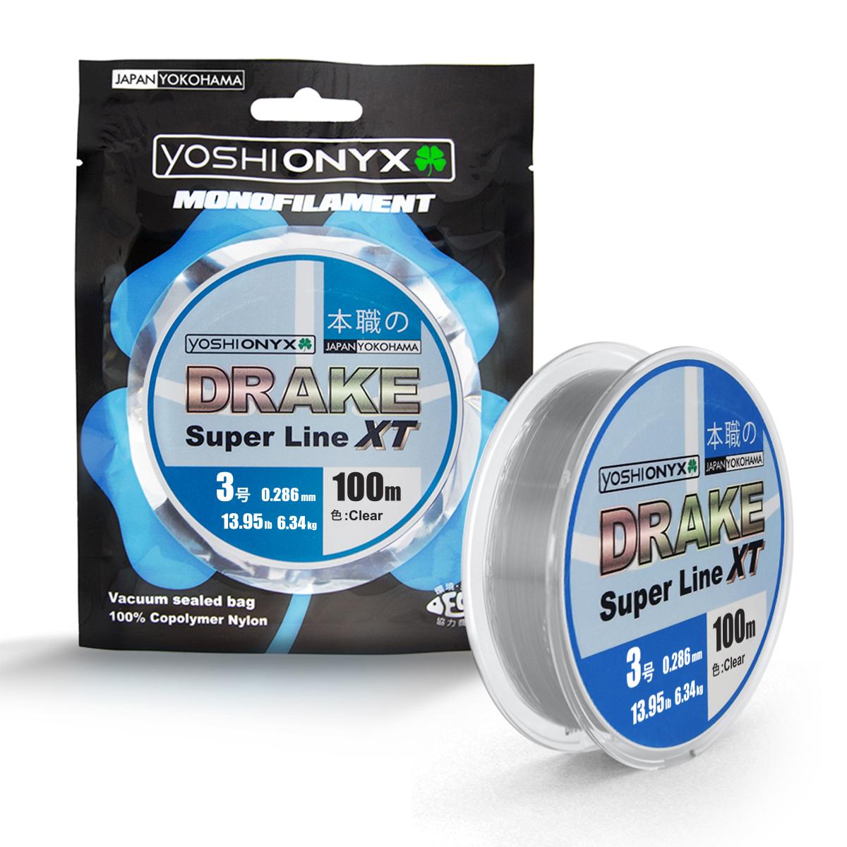 Леска Yoshi Onyx Drake Superline XT, 100 м, 0,286 мм, цвет: Clear89473DRAKE Fluoro от Yoshi Onyx это полноценная флюорокарбоновая леска, предназначена как для намотки на шпулю катушки, так и для монтажа разнообразных оснасток. Трогательно мягкий и удивительно скользкий этот флюр, с невероятной лёгкостью проходя по кольцам, позволяет совершать исключительно дальние и точныеУникальный флюорокарбон, предназначенный для ловли крупной рыбы в сложных условиях. DRAKE Fluoro от Yoshi Onyx идеален для использования на бейткастинговых (мультипликаторных) катушПрозрачный монофил DRAKE Super Line XT от Yoshi Onyx, пожалуй, самый универсальный. Скользкий и мягкий, он невероятно прочен и отлично выдерживает разрывную нагрузку на большинстве узлов. Обладая, непревзойдёнными, водоотталкивающими свойствами, эта леска незаменима, при ловле в условии низких температур.ках, в сочетании с крупными, упористыми приманками. забросы.