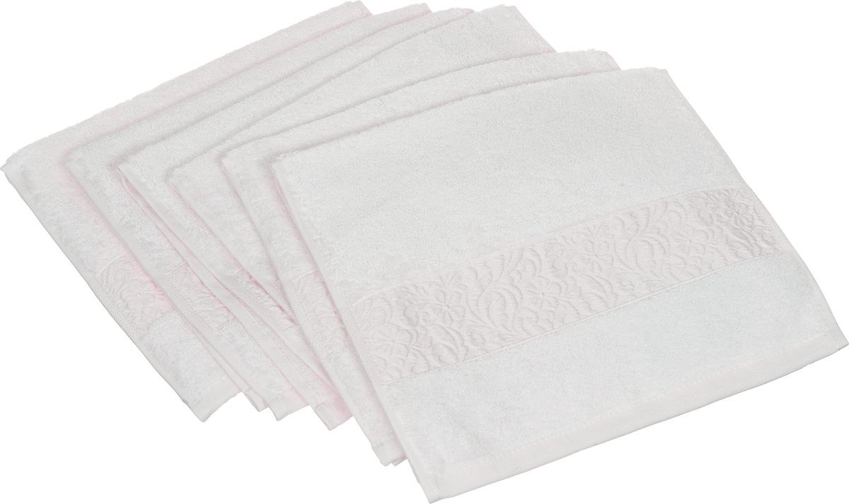 Набор полотенец Issimo Home Valencia, цвет: экрю, 30 х 50 см, 6 шт68/5/3Набор Issimo Home Valencia состоит из 6 полотенец, выполненных из 60% бамбукового волокна и 40% хлопка. Такими полотенцами не нужно вытираться - только коснитесь кожи - и ткань сама все впитает. Такая ткань впитывает в 3 раза лучше, чем хлопок.Набор из маленьких полотенец-салфеток очень практичен - он станет незаменимым в дороге и в путешествиях. Кроме того, это хороший, красивый и изысканный подарок. Несмотря на богатую плотность и высокую петлю полотенец, онибыстро сохнут, остаются легкими даже при намокании.