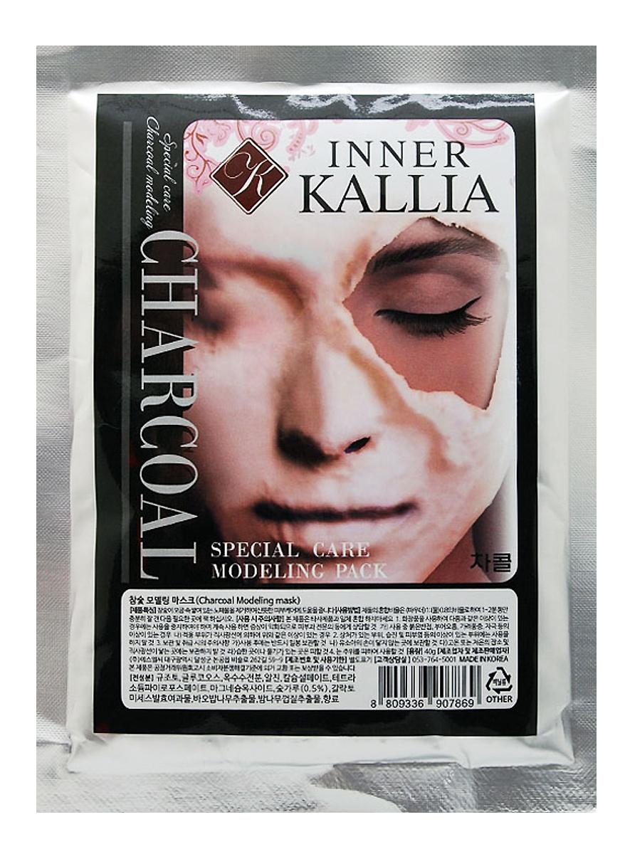 Inner Kallia Альгинатная маска c древестным углем 40 гр50102Уникальный продукт для качественного домашнего ухода. Повышает эффективность нанесенных под маску средств. В зависимости от типа маски и средства, нанесенного под нее, очищает или увлажняет, тонизирует или питает кожу. Обладает выраженным омолаживающим, увлажняющим и питательным эффектом.Отлично очищает кожу, устраняет излишнюю жирность кожи, регулирует работу сальных желез, оказывает антисептическое и противовоспалительное действие. Для жирной/проблемной кожи, кожи с угревой сыпью, черными точками или расширенными порами