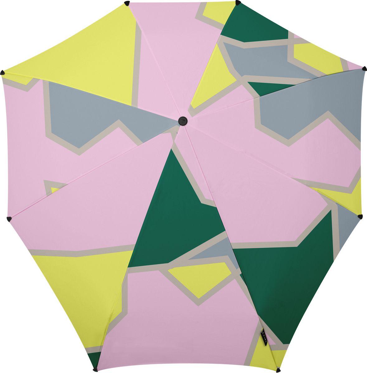 Зонт Senz, цвет: мультиколор. 1021040K50K502473_0010Инновационный противоштормовый зонт, выдерживающий любую непогоду. Входит в коллекцию urban breeze, разработанную в соответствии с современными течениями fashion-индустрии. Зонт Senz отлично дополнит образ, подчеркнет индивидуальность и вкус своего обладателя. Легкий, компактный и прочный он открывается и закрывается нажатием на кнопку. Закрывает спину от дождя, а благодаря своей усовершенствованной конструкции, зонт не выворачивается наизнанку даже при сильном ветре. Модель Senz automatic выдержала испытания в аэротрубе со скоростью ветра 80 км/ч. - тип — автомат- три сложения- выдерживает порывы ветра до 80 км/ч- УФ-защита 50+- эргономичная ручка- безопасные колпачки на кончиках спиц- в комплекте плотный чехол- гарантия 2 года