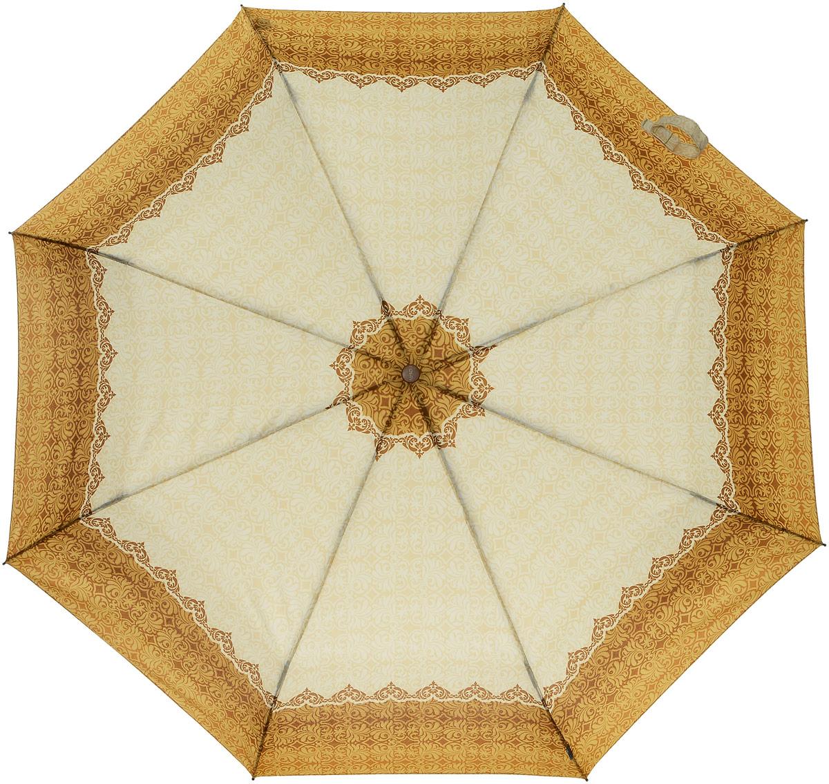 Зонт женский Airton, механический, 3 сложения, цвет: оранжевый, слоновая кость. 3535-150K60K603557_0130Классический женский зонт Airton в 3 сложения имеет механическую систему открытия и закрытия.Каркас зонта выполнен из восьми спиц на прочном стержне. Купол зонта изготовлен из прочного полиэстера. Практичная рукоятка закругленной формы разработана с учетом требований эргономики и выполнена из натурального дерева.Такой зонт оснащен системой антиветер, которая позволяет спицам при порывах ветрах выгибаться наизнанку, и при этом не ломаться. К зонту прилагается чехол.