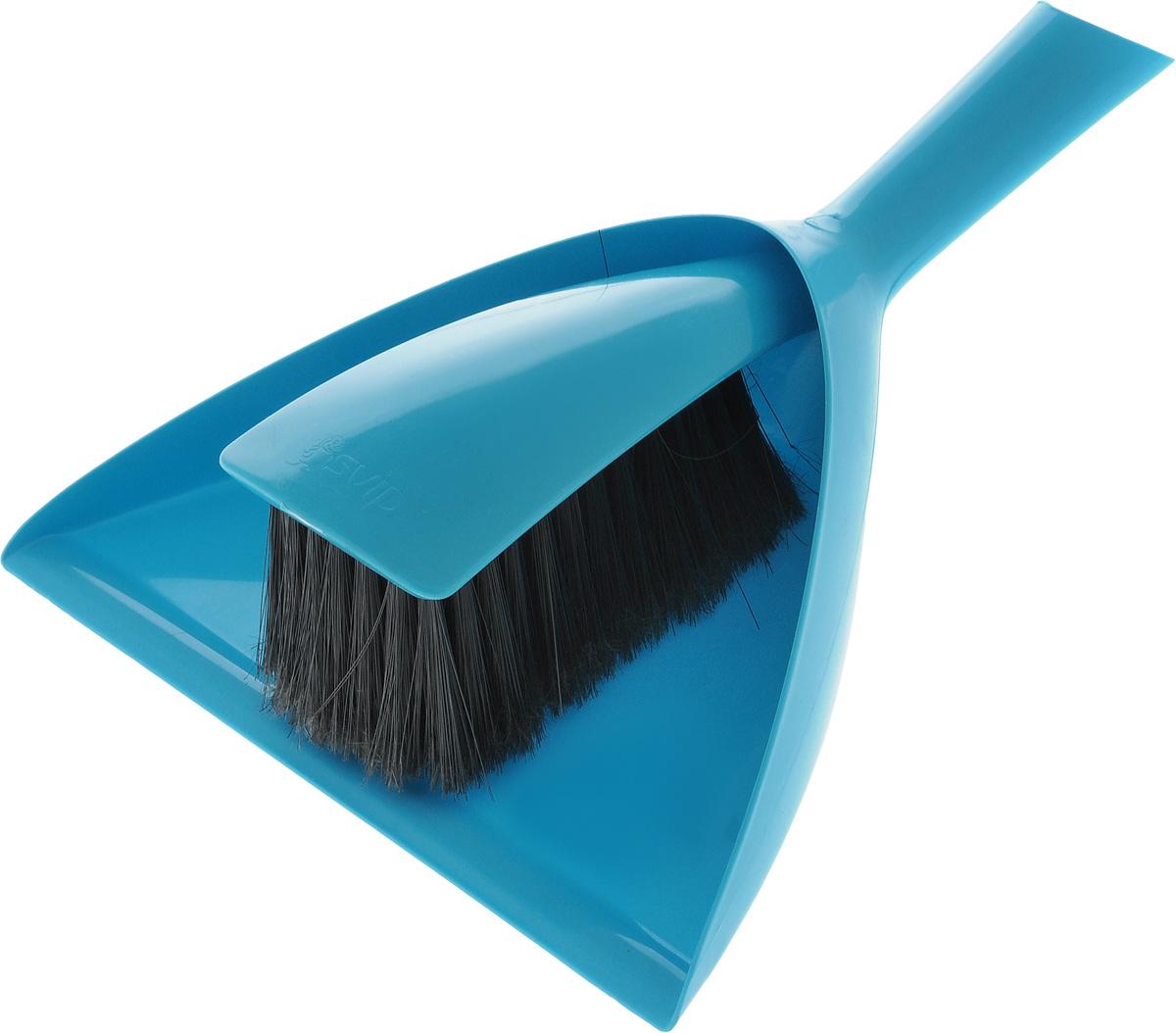 Набор для уборки Svip Original, цвет: бирюзовый, 2 предметаSV4048АМНабор для уборки Svip Original состоит из щетки-сметки и совка, выполненных изполипропилена. Он станет незаменимым помощником в деле удаления пыли и мусора с различныхповерхностей. Удобный, современный и привлекательный.Ворс щетки достаточно длинный, что позволяет собирать даже крупный мусор. Ручка совка позволяет прикреплять его к рукоятке щетки. На рукояти изделий имеется специальное отверстие для подвешивания. Совок вместе со щеткой-сметкой незаменимы в ситуации, когда необходимо быстро убратьмусор на небольшом пространстве. Длина щетки-сметки: 31,5 см, Ширина щетки-сметки: 7,5 см, Длина ворса: 6,5 см. Размер рабочей поверхности совка: 20,5 см х 24 см.Размер совка (с учетом ручки): 34 см х 24 см х 7 см.