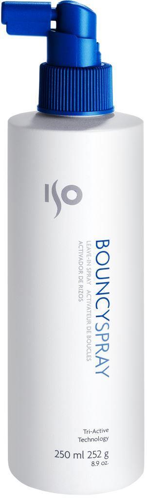 ISO Bouncy Spray - Восстанавливающий спрей для вьющихся волос, 250 млFS-00103Легкая консистенция, быстросохнущая формула, гибкая и долговременная фиксация. Равномерно распыляется по волосам. Не оставляет налета. Эксклюзивная технология «упругих завитков» придает энергию локонам, разделяет на пряди. Фиксирует форму даже в условиях повышенной влажности. Идеален для создания хрустящих, жестких локонов. Многофункциональное средство – дает самые разнообразные возможности для воплощения фантазий по стайлингу.Результат: Хрустящие, блестящие локоны, объемные волосы, зафиксированная прическа, защищенная от влажности.Секреты применения: Четвертый шаг для создания прекрасных локонов! Для прикорневого объема на любых волосах (для этого приподнять волосы и нанести на прикорневую зону, уложить феном). Можно использовать как фиксирующий жидкий лак для волос.