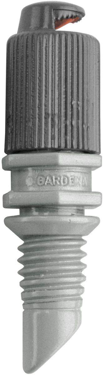 Микронасадка Gardena, 180°, 5 шт106-026Микронасадка Gardena является элементом системы микрокапельного полива Gardena Micro-Drip-System и предназначена для мелкодисперсного орошения грядок. Дальность полива микронасадки составляет около 3 м. Повысить уровень расположения микронасадки можно с помощью надставки. Дальность действия микронасадки также регулируется с помощью запорного крана. Микронасадка охватывает сектор в 180°. В комплект поставки входят пять микронасадок.