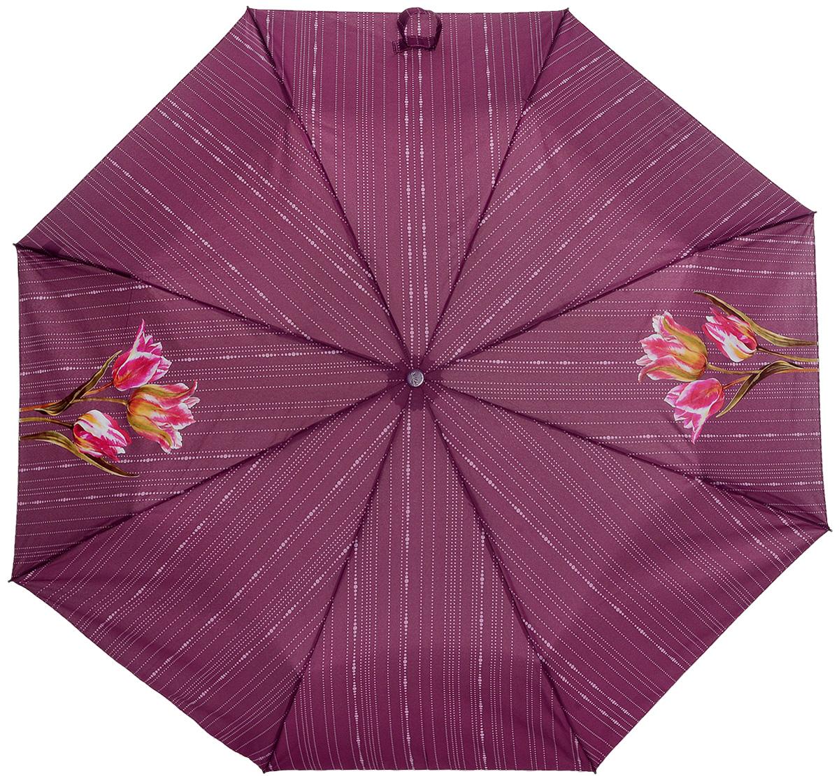 Зонт женский Airton, механический, 3 сложения, цвет: бордовый, зеленый. 3511-178CX1516-50-10Классический женский зонт Airton в 3 сложения имеет механическую систему открытия и закрытия.Каркас зонта выполнен из восьми спиц на прочном стержне. Купол зонта изготовлен из прочного полиэстера. Практичная рукоятка закругленной формы разработана с учетом требований эргономики и выполнена из качественного пластика с противоскользящей обработкой.Такой зонт оснащен системой антиветер, которая позволяет спицам при порывах ветрах выгибаться наизнанку, и при этом не ломаться. К зонту прилагается чехол.