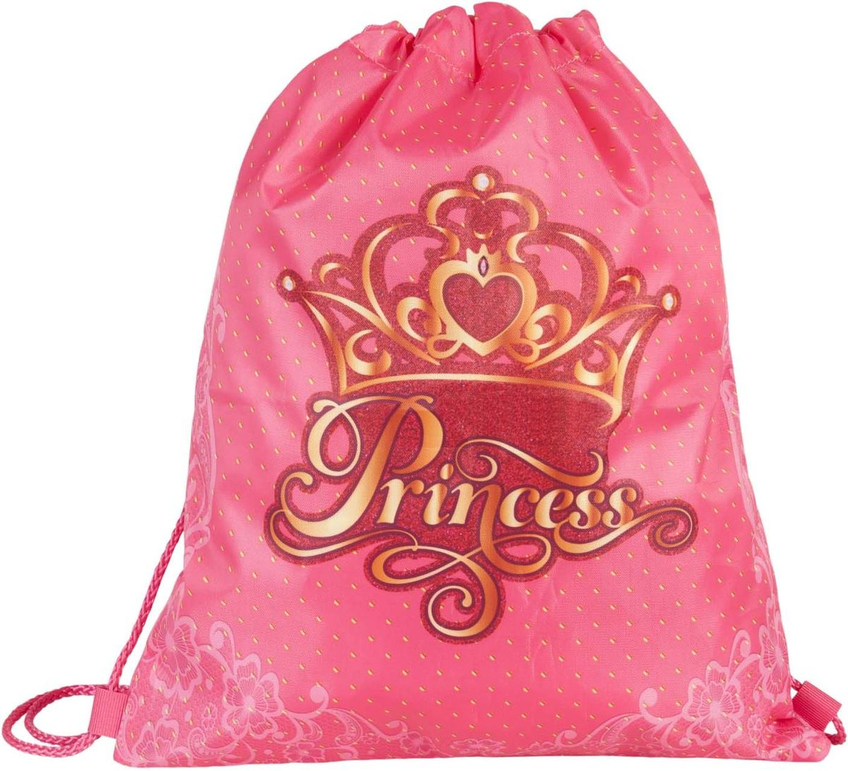 Target Collection Сумка для детской сменной обуви Принцесса 1790872523WDСумка для переноски детской обуви, выполнена из плотного водостойкого материала, затягивается сверху шнурком и носится, как рюкзак.