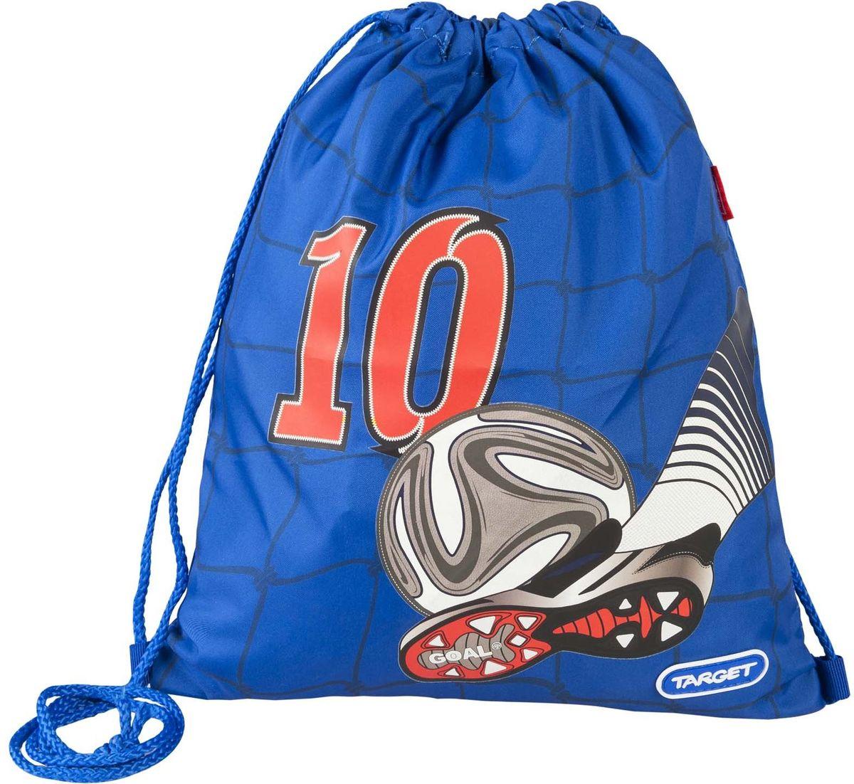 Target Collection Сумка для детской сменной обуви Улетный футбол 1794617946Сумка для переноски детской обуви Target Collection Улетный футбол, выполнена из плотного водостойкого материала, затягивается сверху шнурком и носится, как рюкзак.