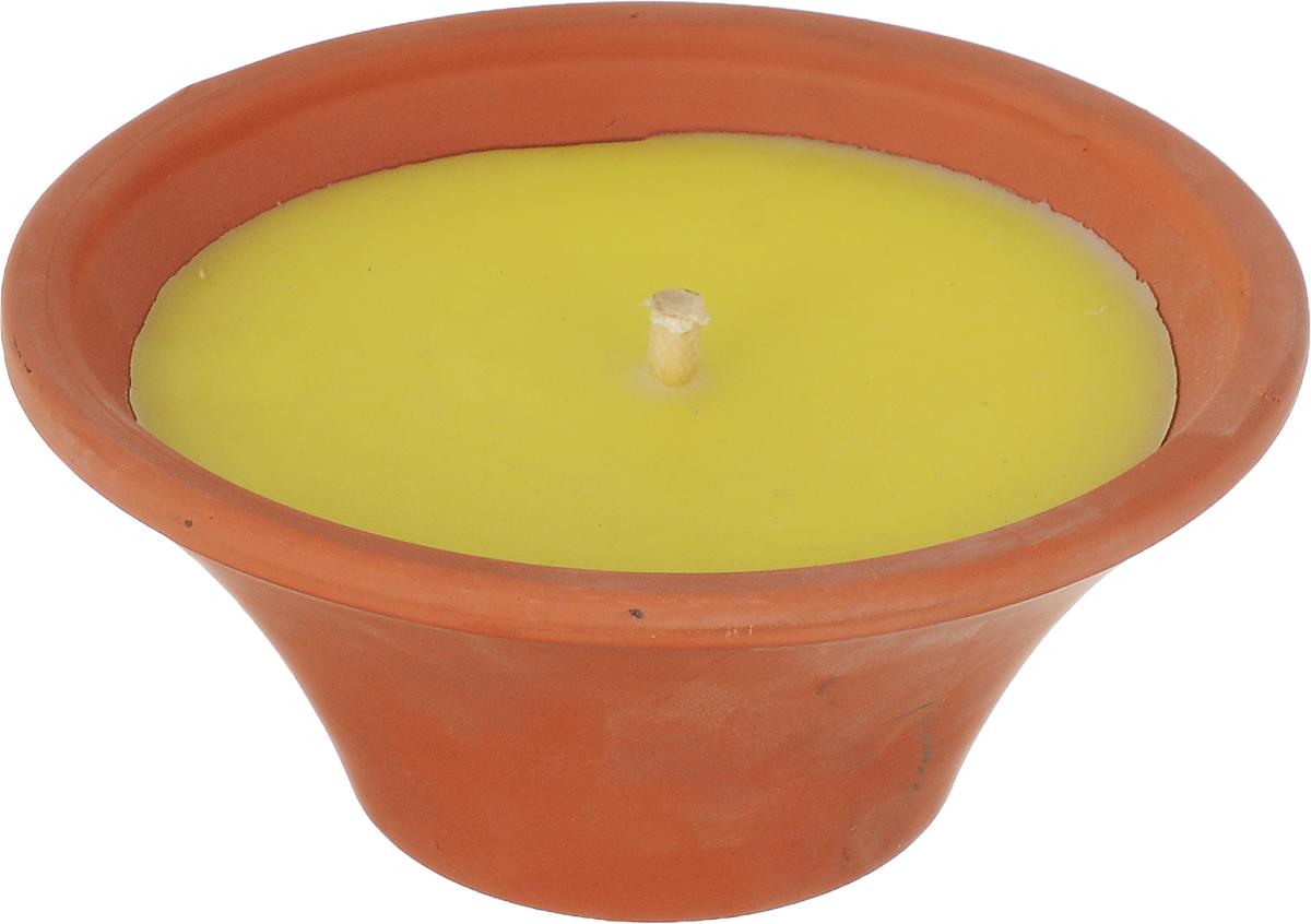 Свеча ароматизированная Spaas Цитронелла, в керамической чаше12723Наливная ароматизированная свеча Spaas Цитронелла в керамической чаше порадует вас приятным ароматом.Свеча может использоваться на природе, в саду или на балконе. Свеча в керамическом блюде ярко горит большим огнем, а запах цитронеллы будет отпугивать комаров. Время горения: 9 ч.