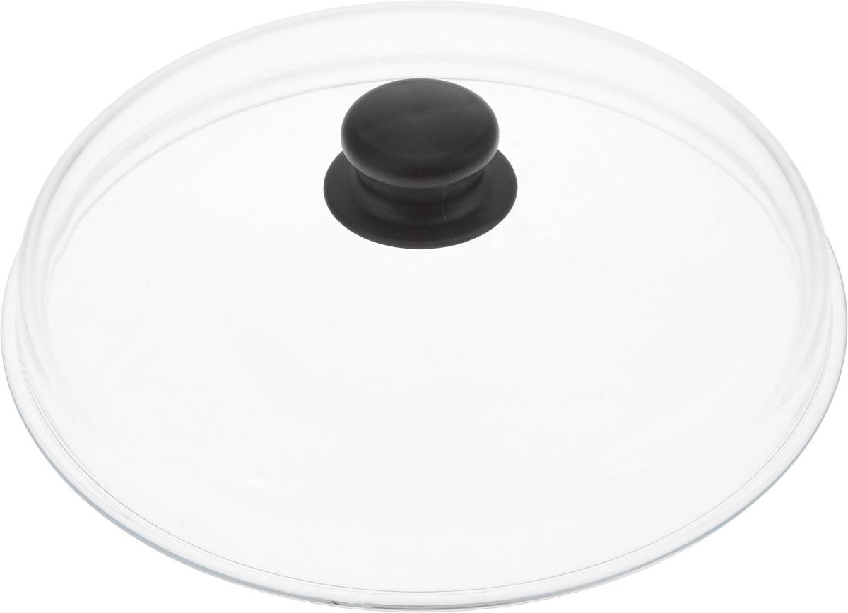 Крышка стеклянная VGP. Диаметр 26 см68/5/4Жаропрочная крышка VGP, выполненная из закаленного термостойкого стекла, оснащена удобной пластиковой ручкой, которая не скользит в руке и остается холодной во время приготовления блюд. Подходит для кастрюль, сотейников и сковород. Прозрачная крышка позволяет полностью контролировать процесс приготовления без потеритепла. Можно мыть в посудомоечной машине.Диаметр сковороды: 26 см.