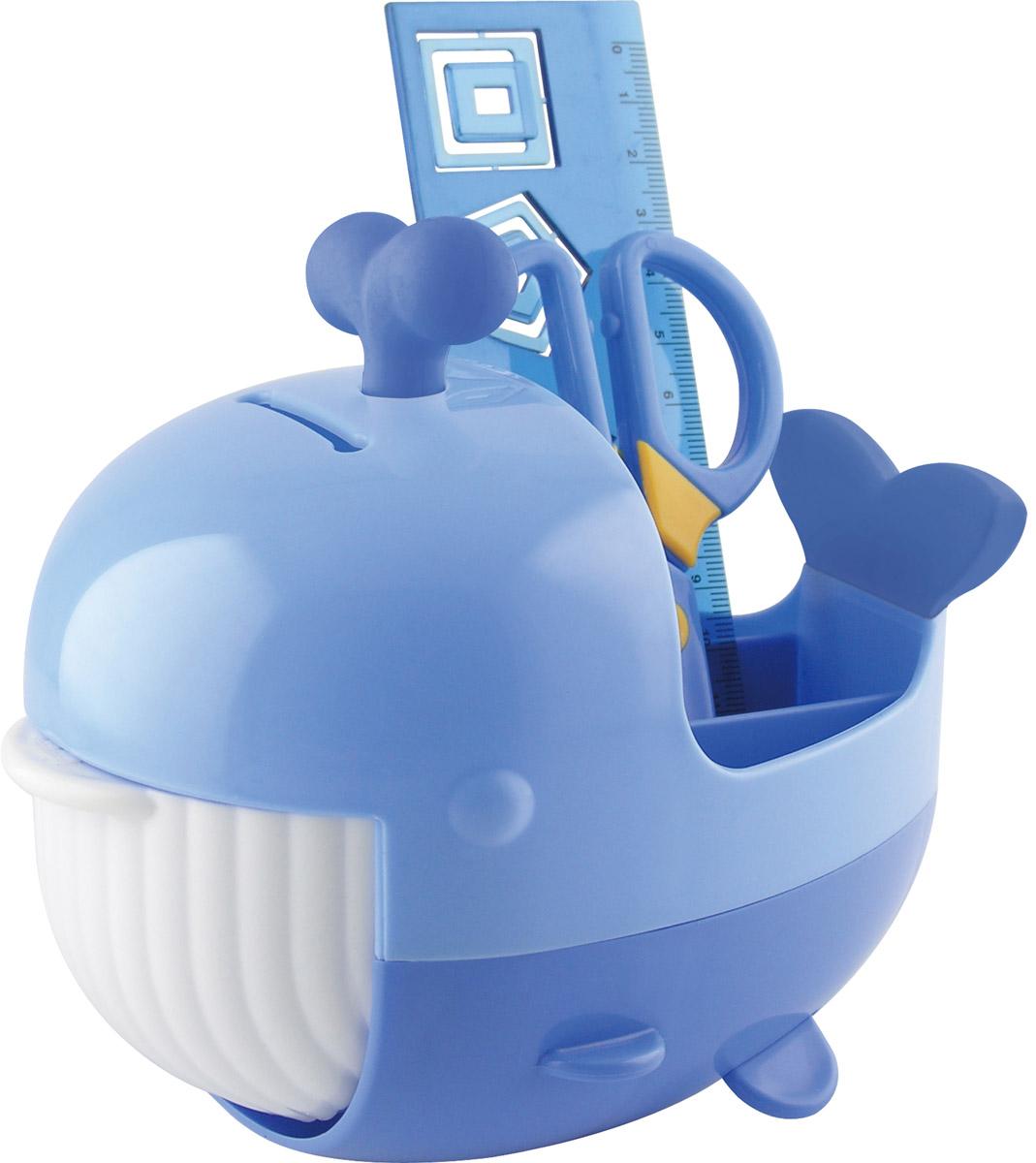 Brauberg Канцелярский набор Кит цвет синий 4 предмета