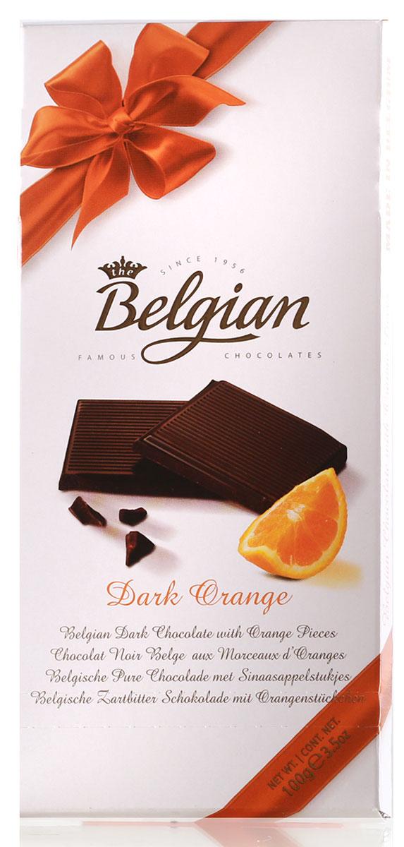 The Belgian Шоколад горький с апельсином, 100 гКО13745Горьковатый вкус шелковистого темного шоколада постепенно наполняется дразнящими оттенками апельсина. Шоколад прекрасно подойдет к чаю, кофе или капучино. Он составит замечательную пару с Мадерой, Хересом, Каберне Совиньон и пивом Nut Brown Ale.