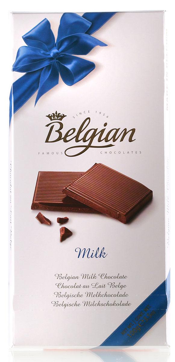 The Belgian Шоколад молочный, 100 г0120710Шоколад демонстрирует деликатный вкус с приятными оттенками какао и ванили. Шоколад хорошо сочетается с Тони Порт, подается к десертным, красным и белым винам, чашечке чая или кофе.