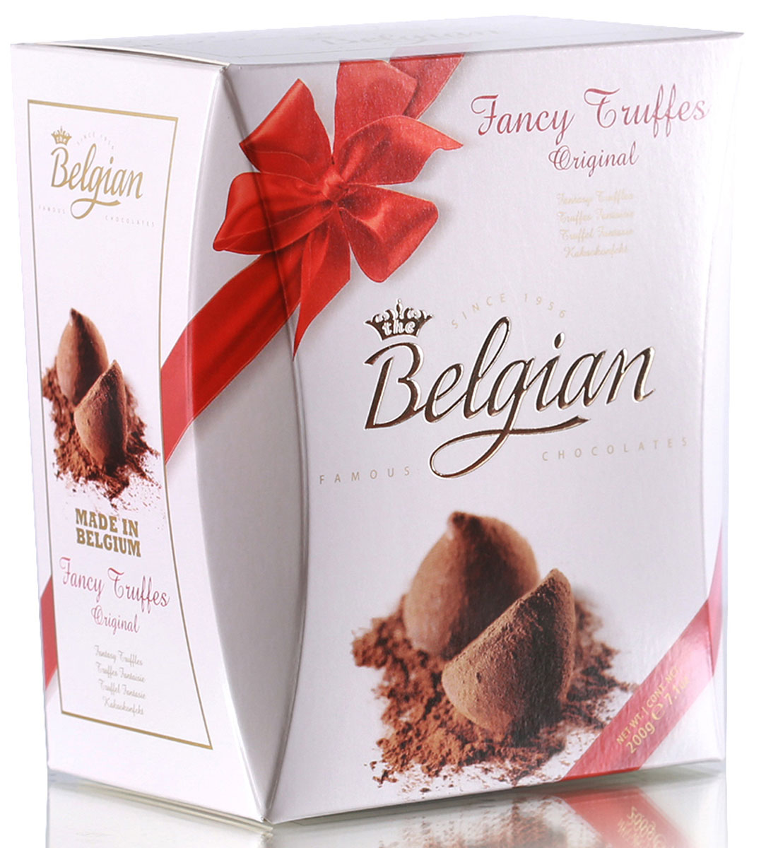The Belgian Трюфели в какао пудре оригинальные, 200 г7.37.20В привлекательном аромате конфет доминируют оттенки какао. Насыщенный шоколадный вкус трюфелей обладает изысканной и пикантной горчинкой, которую конфетам придают хрустящие кусочки какао-бобов и присыпка из натурального какао-порошка.