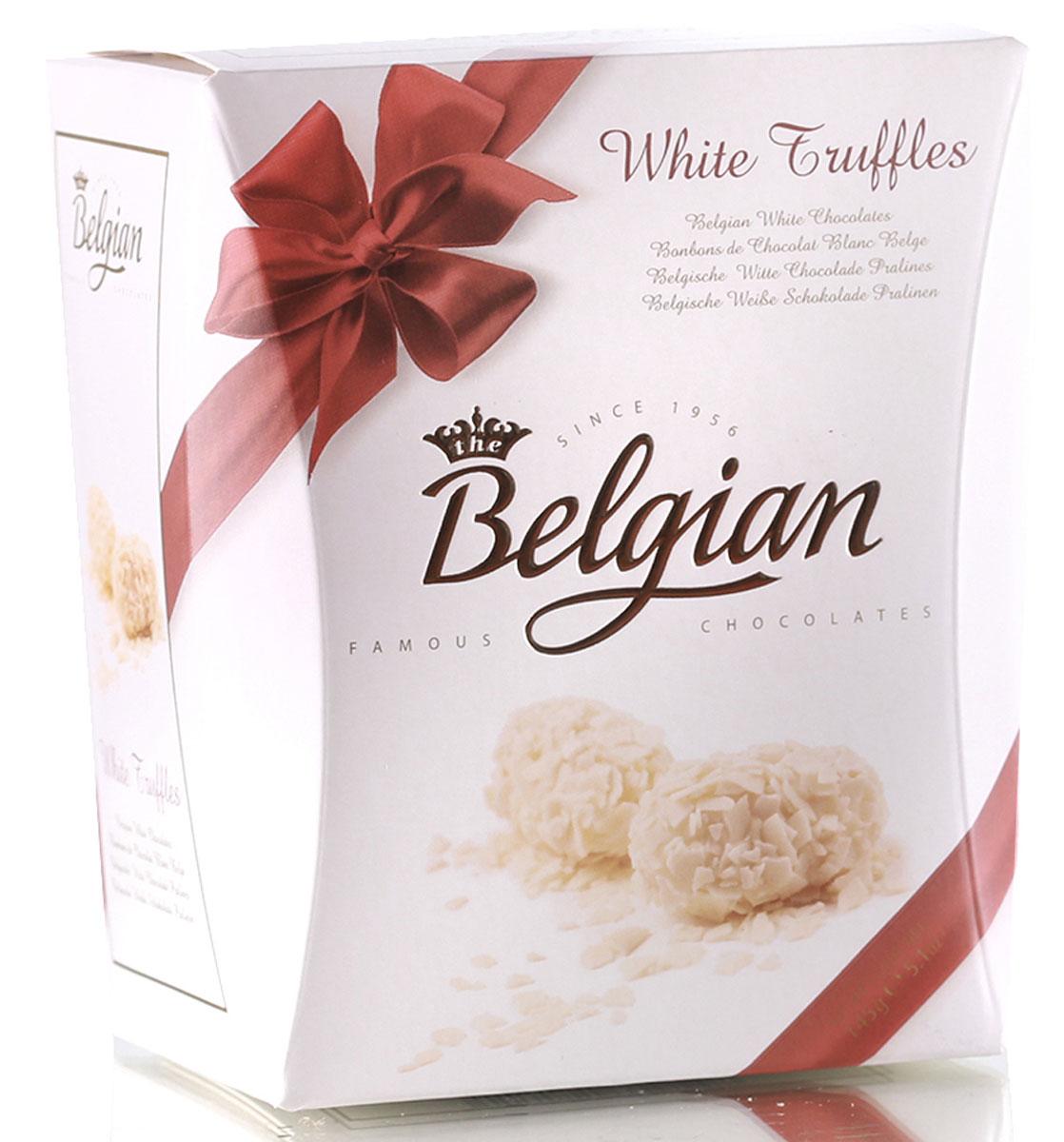 The Belgian Трюфели из белого шоколада в хлопьях, 145 г0120710Сладкий, нежный и мягкий белый шоколад, наполненный чудесными сливочно-карамельными тонами, приятно контрастирует с хрустящими хлопьями. Трюфели замечательно гармонируют с чаем, кофе и капучино. Их можно подать к молоку или какао.
