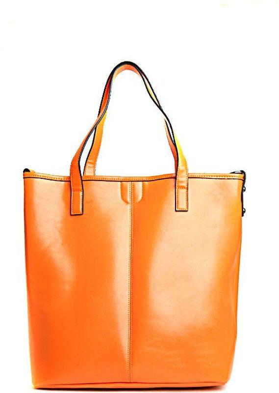 Сумка женская Milana, цвет: рыжий. 152648-1-126747998-101Стильная женская сумка Milana изготовлена из искусственной кожи. Внутренняя подкладка выполнена из искусственного шелка. Сумка закрывается на магнитную застежку. Внутри имеется одно основное отделение, которое дополнено накладным карманом, внутренним закрепленным клатчем, а также карманом на молнии и двумя открытыми без застежек. Модель оснащена длинными ручками на запястье и удобным плечевым ремешком.Оригинальный аксессуар позволит вам завершить образ и быть неотразимой.