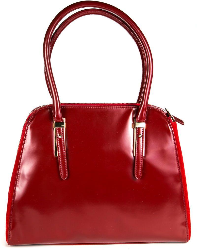 Сумка женская Milana, цвет: красный. 162657-1-740EQW-M710DB-1A1Удобная женская сумка Milana изготовлена из искусственной кожи. Внутренняя подкладка выполнена из искусственного шелка. Сумка закрывается на застежку молнию. Внутри имеется одно основное отделение, которое оснащено одним втачным карманом на молнии и двумя накладными открытыми кармашками. Задняя боковая стенка дополнена втачным карманом на застежке-молнии. Модель оснащена ручками на запястье.Оригинальный аксессуар позволит вам завершить образ и быть неотразимой.