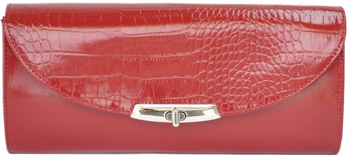 Клатч женский Milana, цвет: красный. 171065-1-140747998-101Удобная женская сумка Milana изготовлена из натуральной кожи. Внутренняя подкладка выполнена из качественного полиэстера. Сумка закрывается на металлическую вертушку. Внутри имеется одно основное отделение. Модель оснащена съемным боковым ремешком, с помощью которого сумку можно носить на запястье.Оригинальный аксессуар позволит вам завершить образ и быть неотразимой.