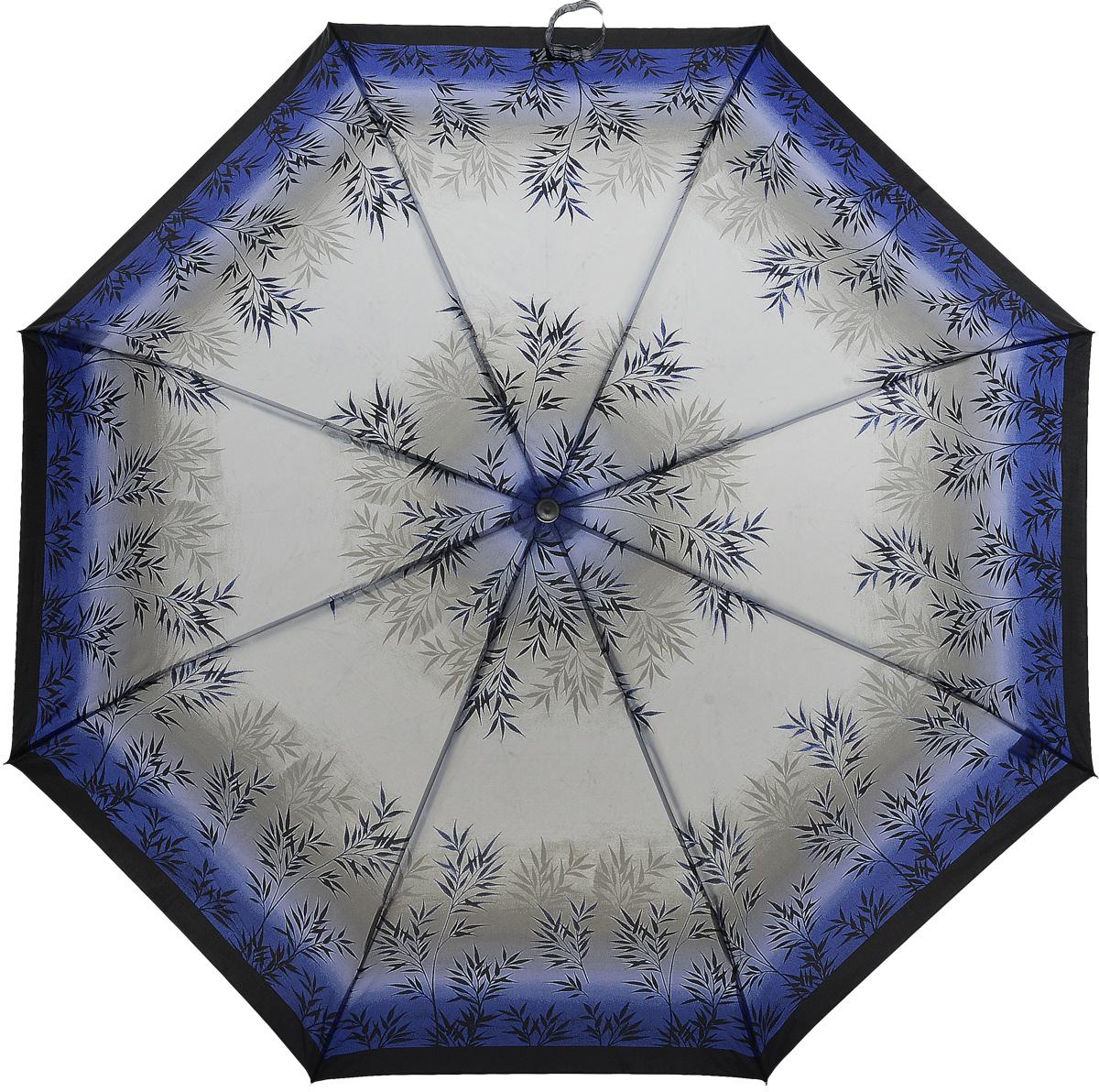 Зонт женский Prize, механический, 3 сложения, цвет: синий, слоновая кость. 355-148Браслет с подвескамиКлассический женский зонт в 3 сложения с механической системой открытия и закрытия. Удобная ручка выполнена из пластика. Модель зонта выполнена в стандартном размере. Данная модель пердставляет собой эконом класс.