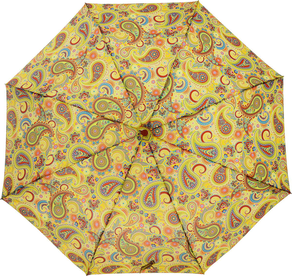 Зонт женский Airton, механический, 3 сложения, цвет: желтый, оранжевый. 3515-124Серьги с подвескамиКлассический женский зонт Airton в 3 сложения имеет механическую систему открытия и закрытия.Каркас зонта выполнен из восьми спиц на прочном стержне. Купол зонта изготовлен из прочного полиэстера. Практичная рукоятка закругленной формы разработана с учетом требований эргономики и выполнена из качественного пластика с противоскользящей обработкой.Такой зонт оснащен системой антиветер, которая позволяет спицам при порывах ветрах выгибаться наизнанку, и при этом не ломаться. К зонту прилагается чехол.