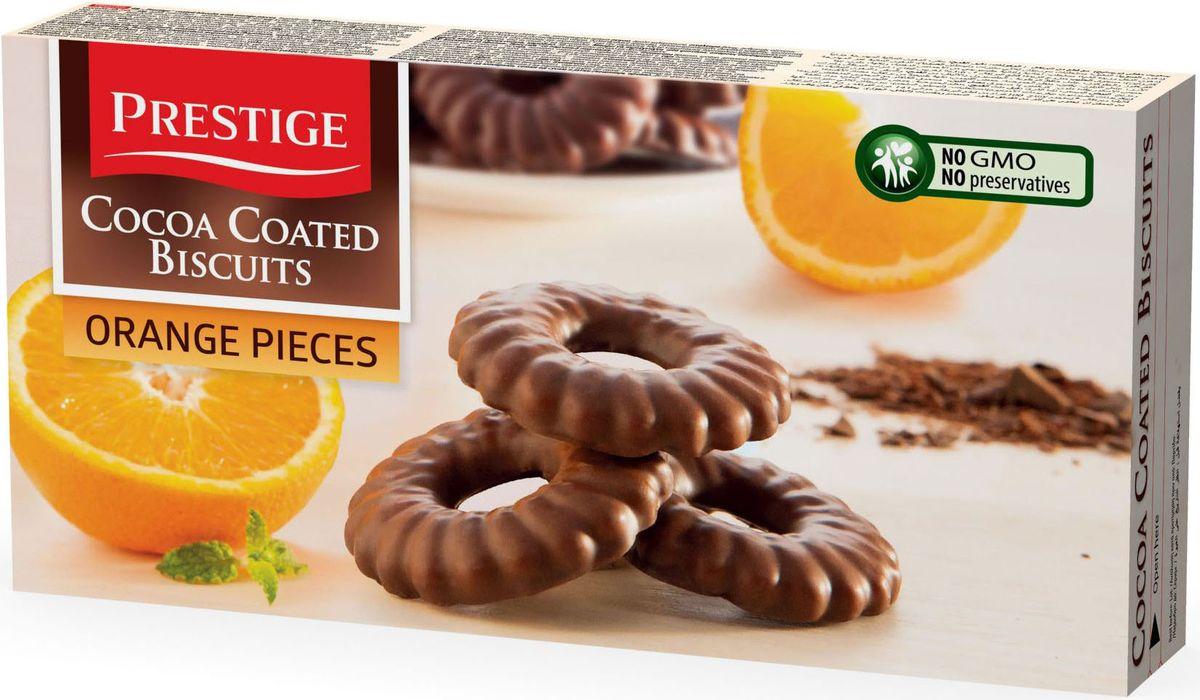 Prestige Печенье с апельсином в какао глазури, 175 г0120710Печенье Prestige с апельсином, покрытое какао глазурью, создано из простых и полезных ингредиентов. Насыщенный мягкий шоколадный вкус подарит массу удовольствия, сам шоколад в сочетании с печеньем зарядит энергией и бодростью с утра и на целый день.