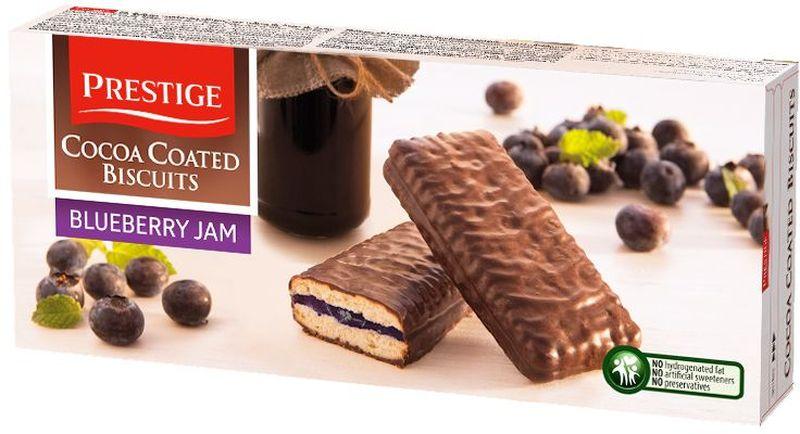 Prestige Печенье черничное в какао глазури, 216 г0120710Печенье Prestige черничное, покрытое какао глазурью, создано из простых и полезных ингредиентов. Насыщенный мягкий шоколадный вкус подарит массу удовольствия, сам шоколад в сочетании с печеньем зарядит энергией и бодростью с утра и на целый день.