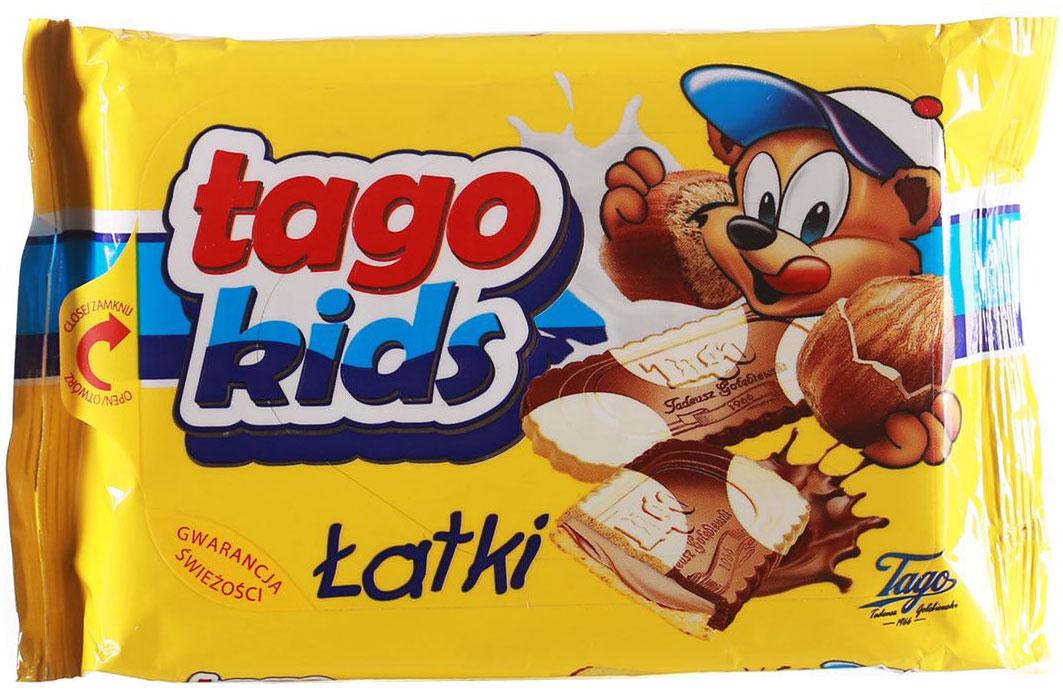TagoKids Latki Печенье с шоколадно-ореховой начинкой, 90 г4610003252687В мире польских десертов не найти лучшего лакомства, чем признанный дуэт вкуснейшего шоколада и насыщенной ореховой начинки. Это хрустящее печенье создано для того, чтобы им насладилась каждая счастливая семья!