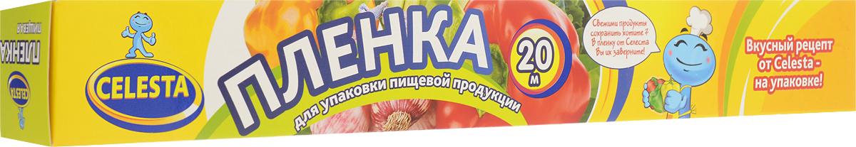 Пленка пищевая Celesta, 20 м115510Пленка пищевая Celesta предназначена для упаковки разнообразных пищевых продуктов: мяса, рыбы, колбас, овощей, фруктов. Обладает эффектом прилипания, сохраняет свежесть продуктов, предотвращает высыхание, зачерствение, защищает продукты от посторонних запахов. Пленка придаст холодным блюдам достойный товарный вид. Ее применение позволит надежно защитить пищу от негативного воздействия внешних факторов. Товар соответствует всем санитарным и гигиеническим требованиям. Особенности пищевой пленки: -отличная герметичность;-максимальная сохранность вкусовых качеств пищи; -повышенная степень устойчивости к различным жирам; -экономичность в использовании - материал хорошо растягивается. Важнейшее свойство пленки - высокие показатели ее газопроницаемости и влагопроницаемости. Это сводит к минимуму возможность появления плесени на пищевых товарах. Кроме того, материал защищает хлебобулочные изделия от появления конденсата, который зачастую возникает при их упаковывании в горячем состоянии. Длина - 20 м. Ширина - 30 см. Уважаемые клиенты!Обращаем ваше внимание на возможные изменения в дизайне упаковки. Качественные характеристики товара остаются неизменными. Поставка осуществляется в зависимости от наличия на складе.