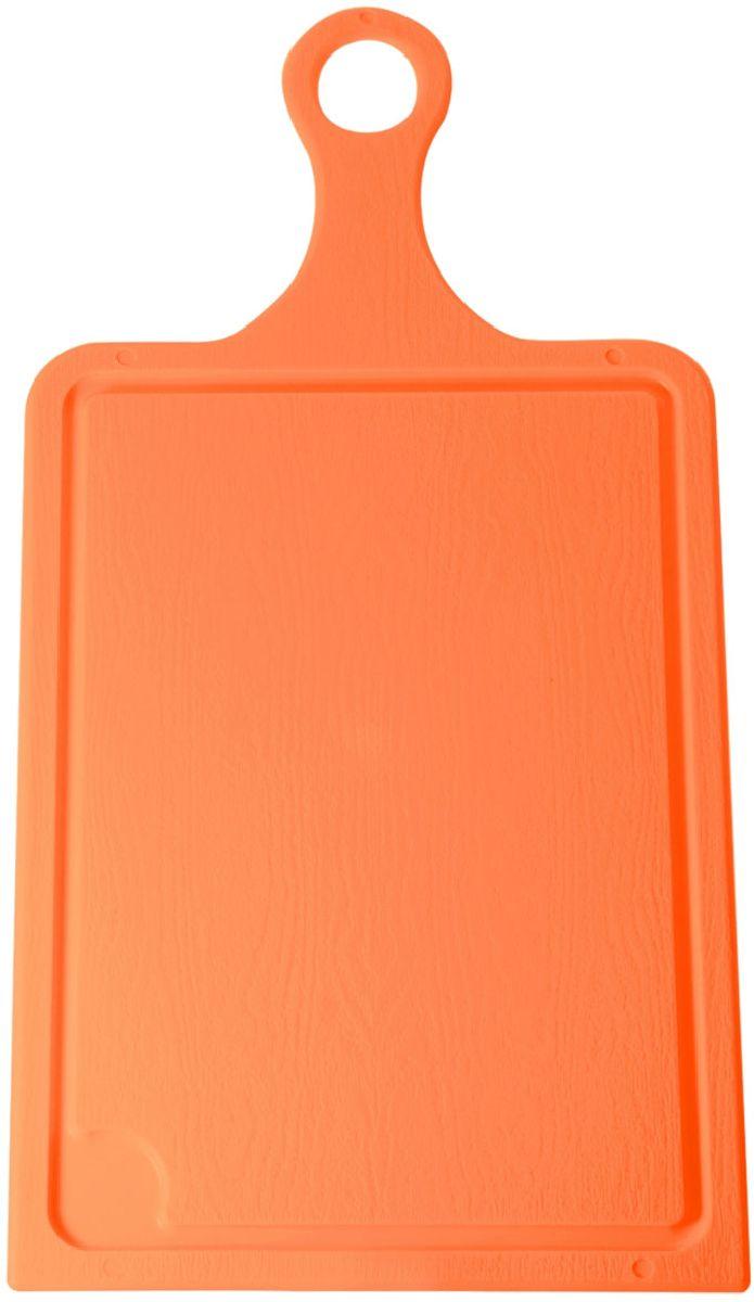 Доска разделочная Plastic Centre, цвет: оранжевый, 43 х 22 см54 009312Разделочная доска может применяться для различных видов продуктов. Каждая доска снабжена желобком для стока жидкости для удобства применения. Доска не впитывает запахи, устойчива к воздействию ножом, благодаря чему изделие более долговечно. На кухне рекомендовано иметь несколько досок для различных видов продуктов: мяса, рыбы, хлеба и овощей.