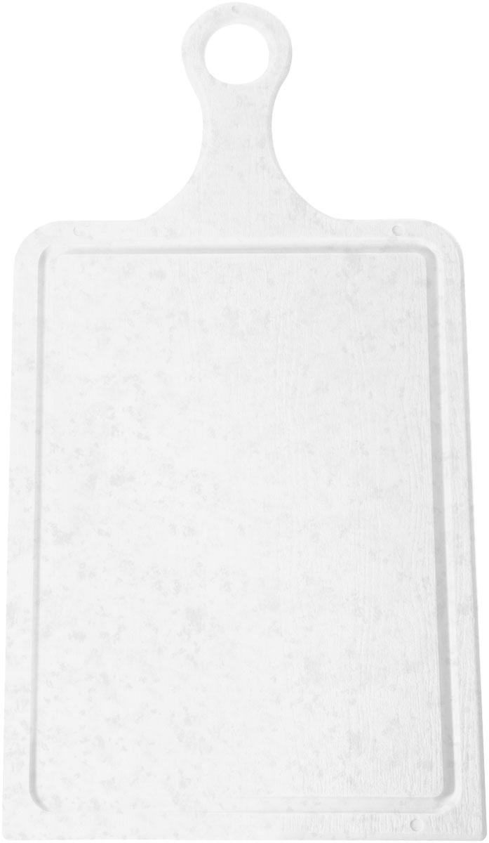 Доска разделочная Plastic Centre, цвет: мраморный, 43 х 22 см94672Разделочная доска может применяться для различных видов продуктов. Доска снабжена желобком для стока жидкости для удобства применения. Доска не впитывает запахи, устойчива к воздействию ножом, благодаря чему изделие более долговечно. На кухне рекомендовано иметь несколько досок для различных видов продуктов: мяса, рыбы, хлеба и овощей.