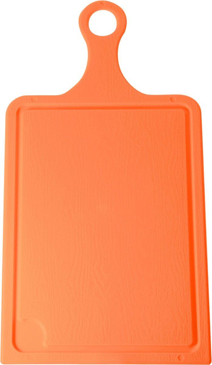 Доска разделочная Plastic Centre, цвет: оранжевый, 35 х 19 см. ПЦ1493МНД54 009305Разделочная доска может применяться для различных видов продуктов. Доска снабжена желобком для стока жидкости для удобства применения. Доска не впитывает запахи, устойчива к воздействию ножом, благодаря чему изделие более долговечно. На кухне рекомендовано иметь несколько досок для различных видов продуктов: мяса, рыбы, хлеба и овощей.