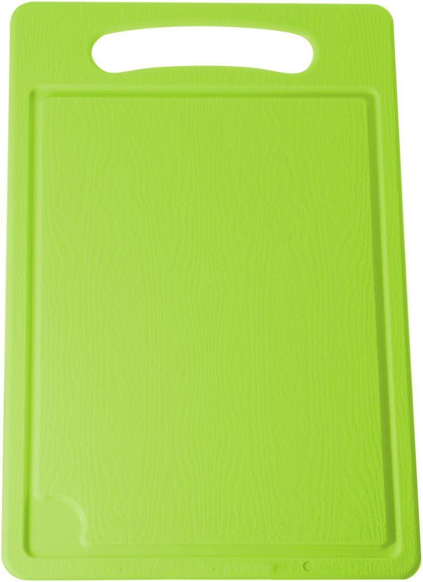 Доска разделочная Plastic Centre, цвет: светло-зеленый, 36 х 24 см115510Разделочная доска может применяться для различных видов продуктов. Доска снабжена желобком для стока жидкости для удобства применения. Доска не впитывает запахи, устойчива к воздействию ножом, благодаря чему изделие более долговечно. На кухне рекомендовано иметь несколько досок для различных видов продуктов: мяса, рыбы, хлеба и овощей.