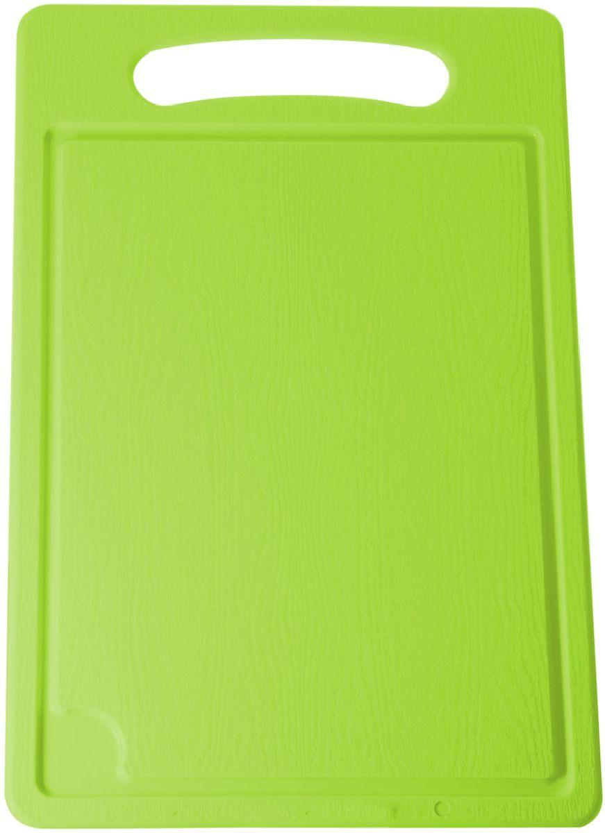 Доска разделочная Plastic Centre, цвет: светло-зеленый, 45 х 29 см94672Разделочная доска может применяться для различных видов продуктов. Доска снабжена желобком для стока жидкости для удобства применения. Доска не впитывает запахи, устойчива к воздействию ножом, благодаря чему изделие более долговечно. На кухне рекомендовано иметь несколько досок для различных видов продуктов: мяса, рыбы, хлеба и овощей.