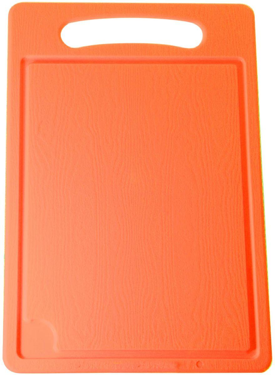 Доска разделочная Plastic Centre, цвет: оранжевый, 45 х 29 см115510Разделочная доска может применяться для различных видов продуктов. Доска снабжена желобком для стока жидкости для удобства применения. Доска не впитывает запахи, устойчива к воздействию ножом, благодаря чему изделие более долговечно. На кухне рекомендовано иметь несколько досок для различных видов продуктов: мяса, рыбы, хлеба и овощей.