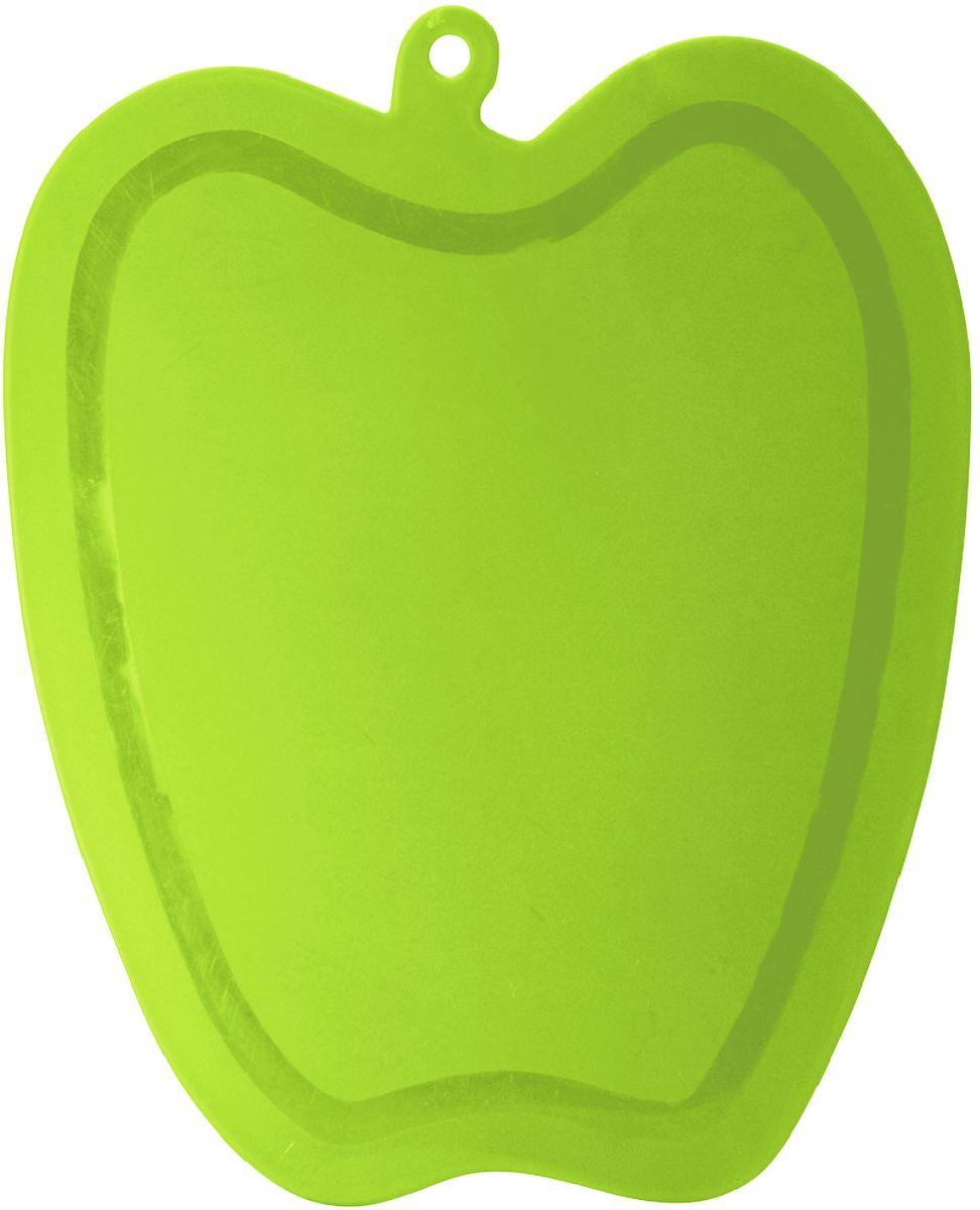 Доска разделочная Plastic Centre Slim, цвет: светло-зеленый, 22,5 х 18,3 см94672Тонкая, легкая, прочная разделочная доска может применяться для различных видов продуктов. Доска не впитывает запахи, устойчива к воздействию ножом, благодаря чему изделие более долговечно. На кухне рекомендовано иметь несколько досок для различных видов продуктов: мяса, рыбы, хлеба и овощей.Доска изготовлена в форме яблока.
