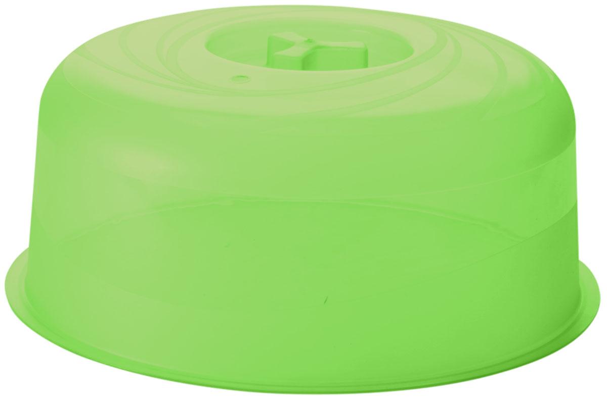 Крышка для СВЧ Plastic Centre Galaxy, цвет: зеленый, прозрачный, диаметр 22 см68/5/3Крышка для СВЧ Plastic Centre Galaxy с отверстием для выпуска пара предохраняет внутреннюю поверхность микроволновой печи от брызг во время разогрева пищи. Изготовлена из высококачественного пищевого пластика.Диаметр крышки: 22 см.Высота крышки: 9 см.