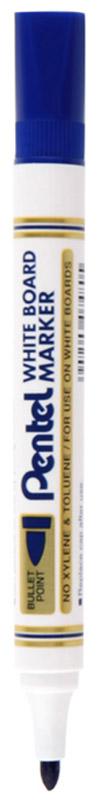 Pentel Маркер для досок цвет синий72523WDМаркер для досок Pentel синего цвета станет вашим верным помощником при проведении презентаций или семинаров.Маркер выполнен из пластика и предназначен для письма на доске. Корпус маркера белого цвета, а цвет колпачка соответствует цвету чернил. Маркер обеспечивает ровные и четкие линии, диаметр стержня 4,2 мм. Квадратный колпачок не позволит ему скатиться со стола, и он всегда будет у вас под рукой. Маркер имеет увеличенную длительность письма.